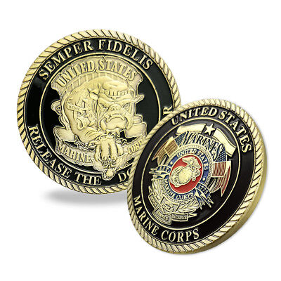 United States Marine Corps Devil Dog USMC Military Gift Challenge Coin Auction