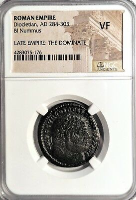 Diocletian, LARGE Ancient Roman Coin, NGC (VF)