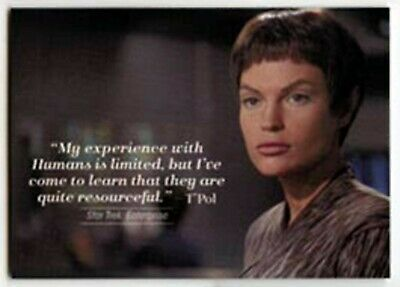 2017 WOMEN OF STAR TREK 50th ANNIVERSARY QUOTABLES CHASE CARD #Q17