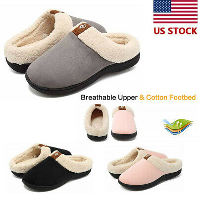 6942237007f6 Winter Slippers Unisex Fur Lined Cotton Loafers Warm Flats Breathable  Non-slip