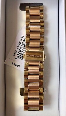 b4db7aa7272a MICHAEL KORS Bradshaw Access Pink   Gold Stainless Steel Watch Band MKT9025   95