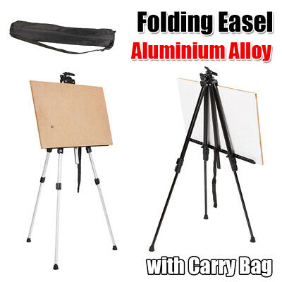 Adjustable Artist Aluminium Alloy Folding Poster Stand Display Easel + Carry Bag