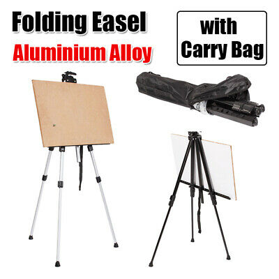 Aluminium Artist Folding Painting Easel Adjustable Tripod Display Stand W/ Bag