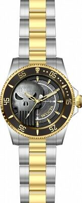 Invicta Men's 29695 'Marvel' Punisher Gold-Tone and Silver Stainless Steel Watch