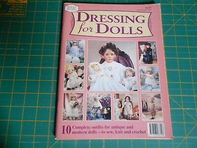 Dressing For Dolls Magazine (1997) Ten Complete Outfits - Good Condition -