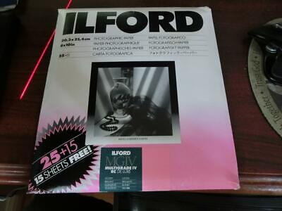 "Ilford Multigrade IV MGIV Pearl 8""x10"" 40 Pack"