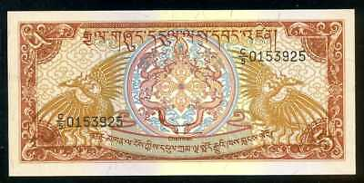 BHUTAN  -  5 NGULTRUM  1985     -  P 14b  Uncirculated Banknotes