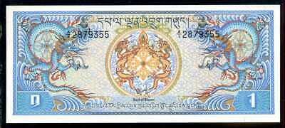 BHUTAN  -  1 NGULTRUM  1981    -  P 5  Uncirculated Banknotes