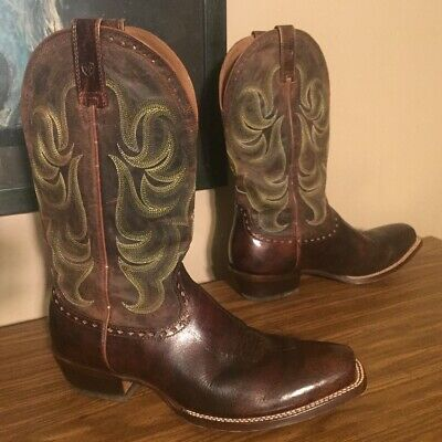 0706e964f50 ARIAT MENS HERITAGE Pull On Roper 13D Cowboy Boot Black LEATHER ...