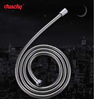 1.5m 2m flexible stainless steel shower hose brass connector with rubber