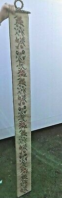 Antique Needle / Petit  Point Floral Bell Pull