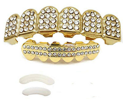 grillz complet dentier bling teeth hip hop dents fashion star US grillz neuf!