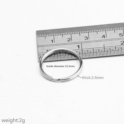25mm 1 Inch Stainless Steel Rings Key Chains Split Rings 5 10 50 100 500 PCS/Lot