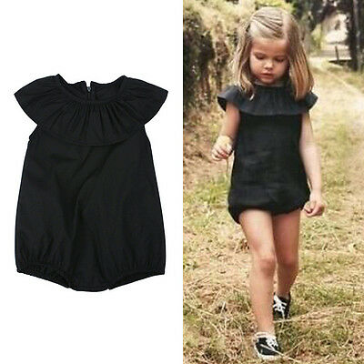 USA Baby Girls Kids Summer Outfits Bodysuit Romper Playsuit Sleeveless Clothes