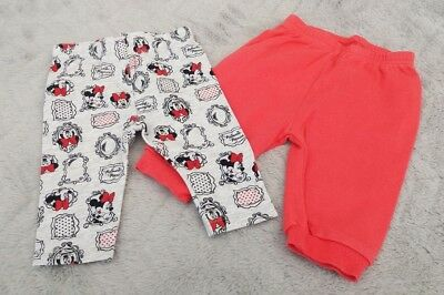 Baby Girls Disney Minnie Mouse Grey Leggings & Pink Joggers Set (0-3 Months)