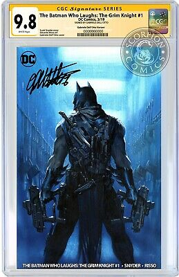 Batman Who Laughs Grim Knight 1 Cgc Ss 9.8 Signed By Gabriele Dell'otto Pre-Sale