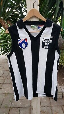 Vintage Collingwood Magpies Sekem Afl Football Club Guernsey Top