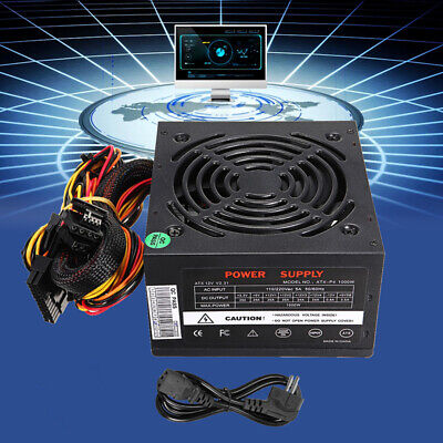 1000W Watt 220V Power Supply PSU PFC Silent Fan ATX 24-PIN PC Computer Gaming