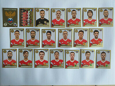 Panini Wc Coupe Du Monde 2018 20 Images Equipe Complete Set Team Gold Russie