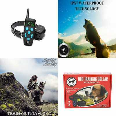 Shock Collar For Dogs Dog Training W Remote SMALL MEDIUM LARGE 1600Ft Rechargeab