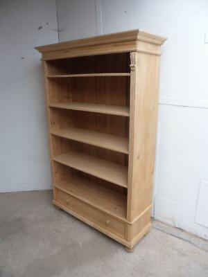A Super Large Antique/Old Pine Office Box Files Storage Shelf to Paint/Wax