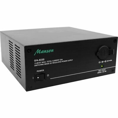MANSON 33A Cont 36A Max 13.8Vdc Power Supply Bench Top Black