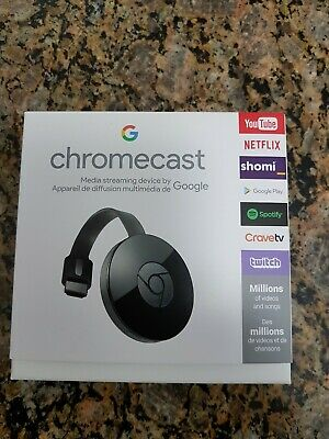 GOOGLE CHROMECAST 3rd GENERATION DIGITAL HDMI MEDIA STREAMING 1080P