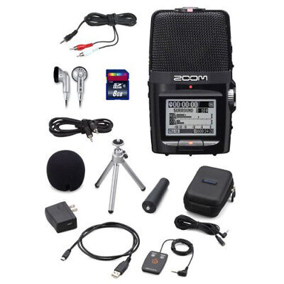 Zoom H2n Handy Handheld Digital Multitrack Recorder Bundle ZOH2NKIT
