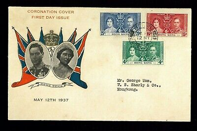 ( Hkpnc ) Hong Kong 1937 Coronation First Day Cover 1