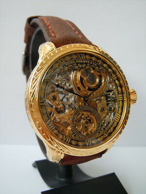 PATEK PHILIPPE 1859`s Mens SKELETON ENGRAVING QUALITY ELEGANT Watch