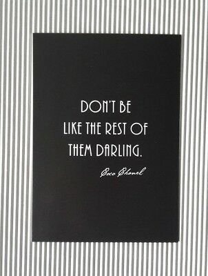 "Spruch-Postkarte | ""Don't be like the rest of them Darling"" 