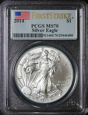 2014 PCGS MS 70 American Silver Eagle First Strike Holder Item#J3919