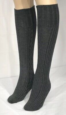 b6220746e23 Anne Klein Women s Cotton Blend Gray Knee High Boot Socks Size 9-11 NWT