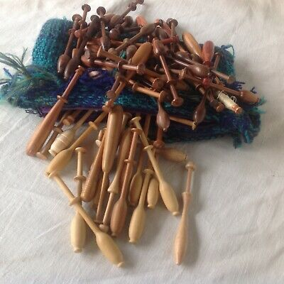 Continental lacemaking wooden bobbins, used but in pristine condition