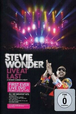 Stevie Wonder - Live At Last  Dvd  27 Tracks International Pop/Soul Concert New