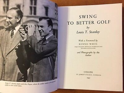 Swing To Better Golf 1957 by Louis T. Stanley Fully Illustrated Golf Resource HC