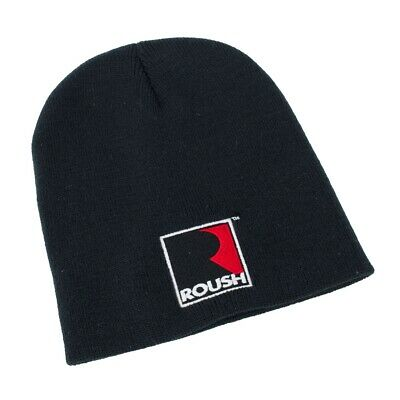 Roush Performance Embroidered Logo Black Knit Beanie Hat Watch Cap