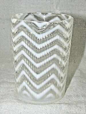 RARE Antique Northwood Ribbed Herringbone White Opalescent Tumbler