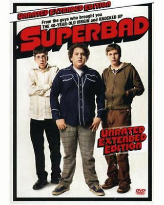 NEW Superbad DVD Unrated Extended EDITIO Michael Cera Jonah Hill MOVIE SUPER BAD