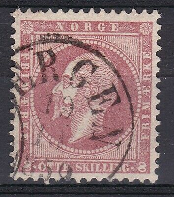 Norway no 5, King Oscar I, nice --Bergen 19 10 1859--