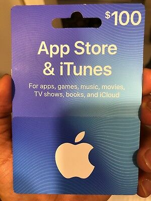 Apple 100$ App Store and iTunes Gift Card