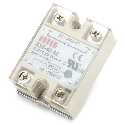 Solid State Relay SSR-40AA 40A AC Relais 80-250V TO 24-380VAC AC WE