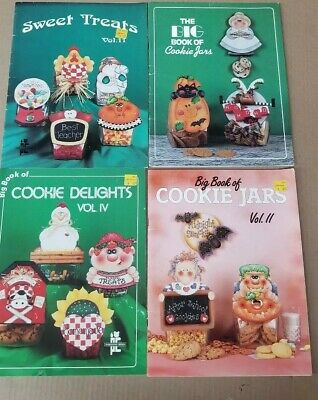 The Big Book of Cookie Jars Patterns and Paint Instr for All Occasions Lot of 4
