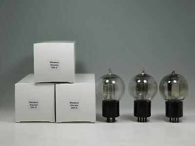 Western Electric 205-D Matched Tennis Ball Tube Trio Engraved Base (Test 102%)