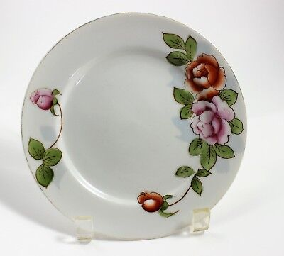 Hadson China Ware Plate Made in Occupied Japan Peonies 7 1/4 inches