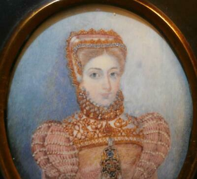 FINE 19thC PORTRAIT MINIATURE MARY QUEEN of SCOTS  John Coubrough Collection