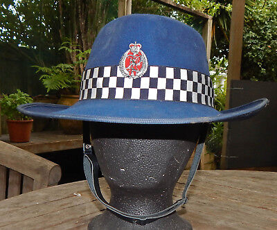 NEW ZEALAND Police 'Cowboy Hat' Genuine AKUBRA Brand FELTFUR Sun Hat OBSOLETE
