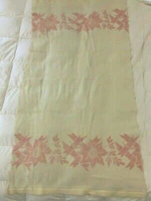 Vintage Cottage Camp Blanket 33 x 68 Reversible 30s 40s Cutter Crafts