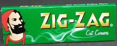 Zig Zag Green Rolling Papers Cut Corners *Best Price* *USA SHIPPED*