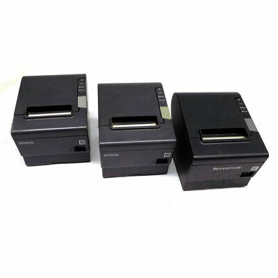 (Lot of 3) Epson TM-T88V M244A Thermal Receipt Printer w/ Ethernet, Serial, USB